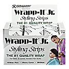 A product thumbnail of Famis Wrapp-It Jr. Black Styling Strips