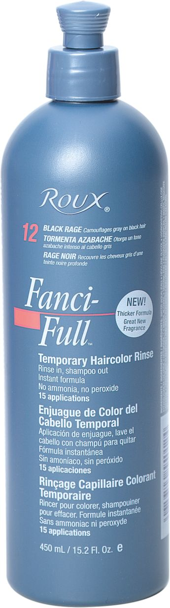 Roux Fanci Full Temporary Color Rinse Black Rage