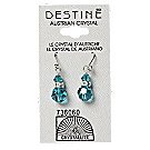 A product thumbnail of Destine Austrian Crystal BZ With Rhinestone Rondelle Dangle Earrings