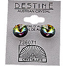 A product thumbnail of Destine Austrian Crystal VM Rivoli Post Earrings