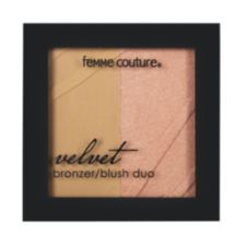 A product thumbnail of Femme Couture Velvet Bronzer and Blush Duo Velvet Brownie