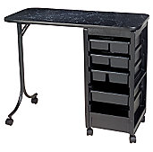 A product thumbnail of Kayline QS36 Manicure Table Black Marble Finish