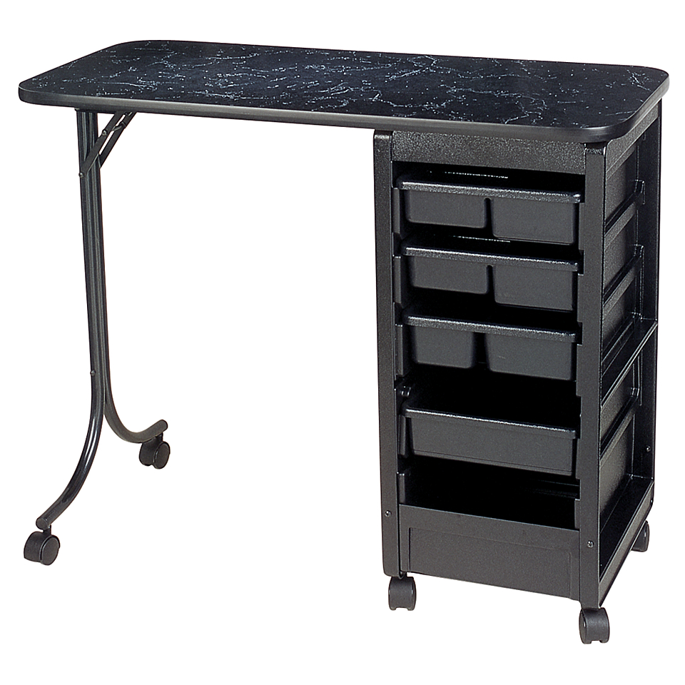 Sally beauty kayline qs36 manicure table black marble for Beauty manicure table