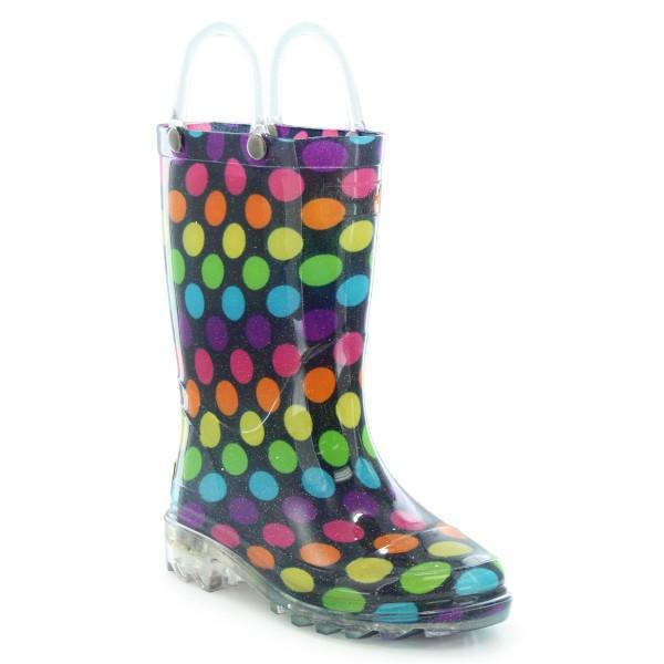 Preschool Girl's Washington Shoe Company Darling Dots Lighted Rain ...