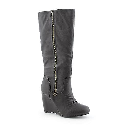 Wild Diva Shondi-01 Brown Mid-Calf Boots