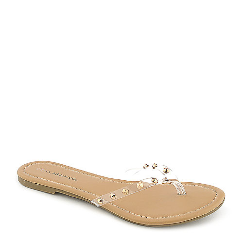 Classified Darlin-S Thong Sandals Gold T-Strap Sandals