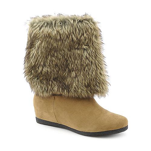 Bamboo Womens Soprano-08 Tan Fur Boots