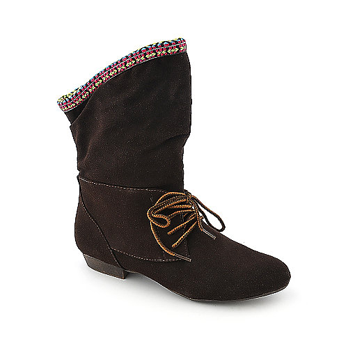 Bamboo Low-Heel Boots Picnic-03 Brown