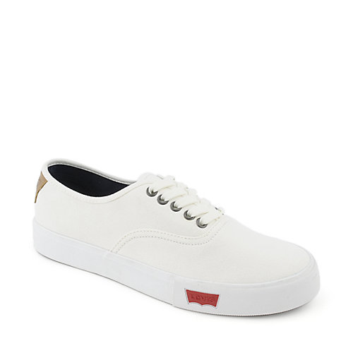 levi s jordy mens white casual lace up sneaker
