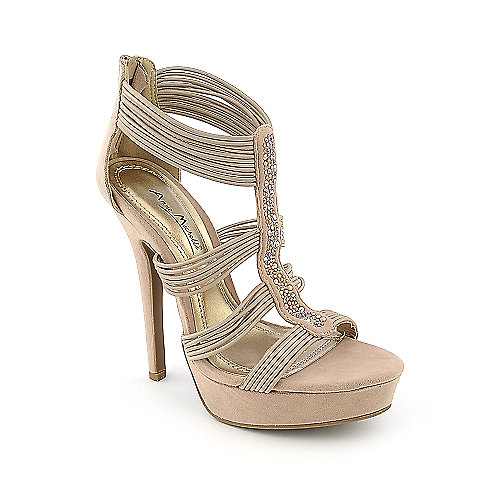 Anne Michelle Socialite-64 Natural Evening Shoes