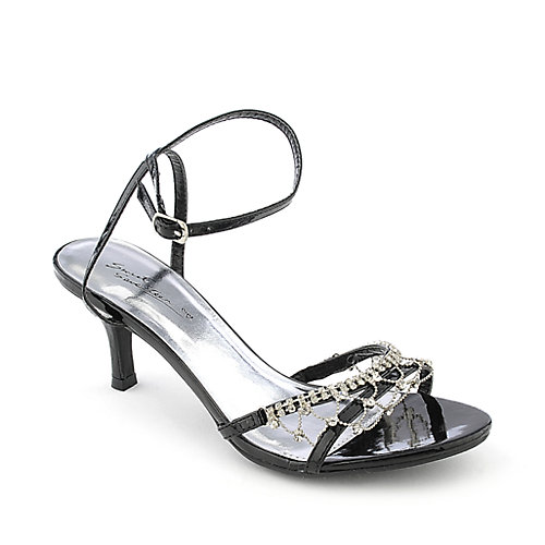 Sweet Seventeen Janee-08 Slingback Dress Shoe Black Evening Shoes