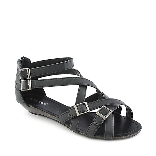 Bamboo Denisa-98 Black Sandals