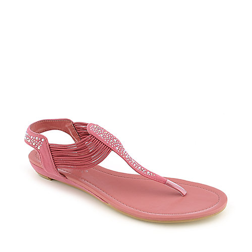 Nature Breeze Ariel-12 Pink T-Strap Sandals