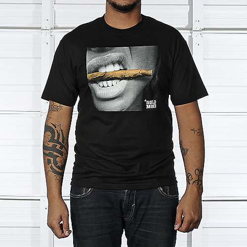 Gold Mind Mens Black Tee