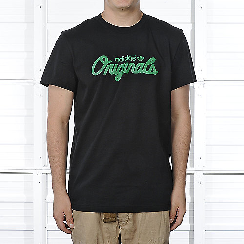 Adidas Mens Black Scripted Tee