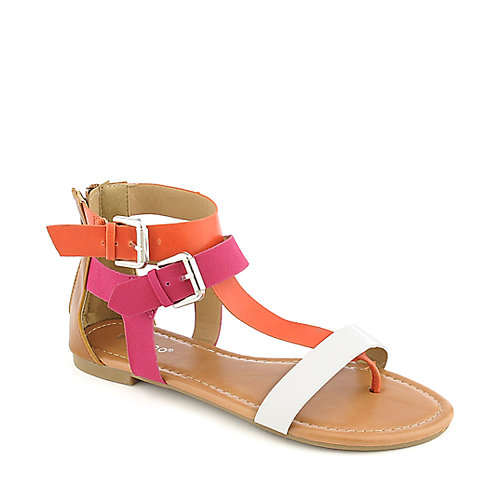 Bamboo Grayson-05 Thong Sandals Multi-Color