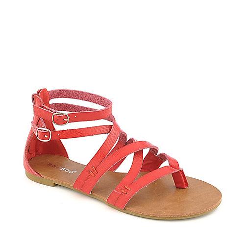 Bamboo Laguna 25 Red Flat Strappy Gladiator Sandal