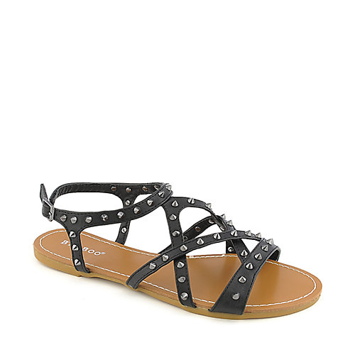 Bamboo Morris-61 Black Slingback Sandals