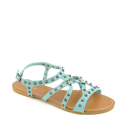 Bamboo Morris-61 Turquoise Slingback Sandals