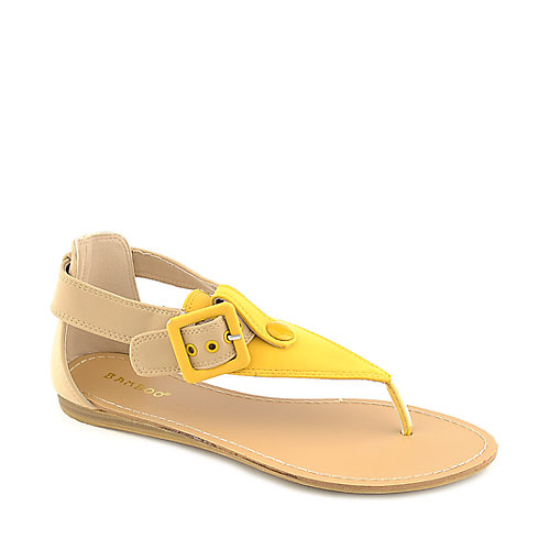 Bamboo Steno-73 Thong Sandals Yellow T-Strap Sandals