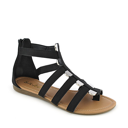 Yoki Donna-39 Black Gladiator Sandals