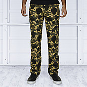 Mens Slim Fit Denim Camo Pants