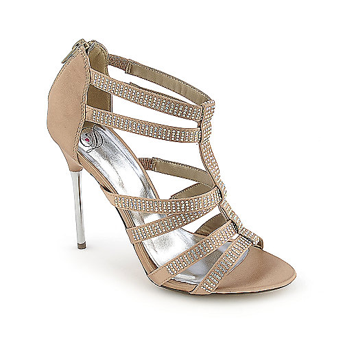 Delicious Surya-S High Heel Shoe Beige Glitter Shoes
