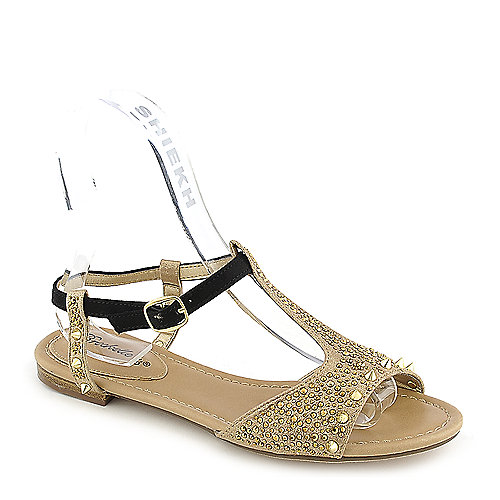 Breckelle's Deena-01 Gold Jeweled Sandals