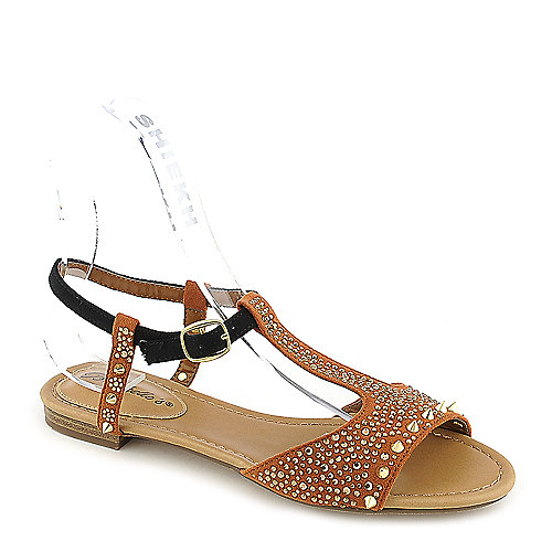 Breckelle's Deena-01 Tan Jeweled Sandals