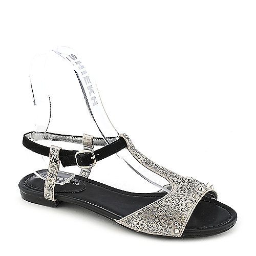 Breckelle's Deena-01 Silver Jeweled Sandals