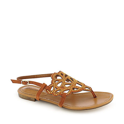 Breckelle's Sunny-02 Tan Jeweled Sandals