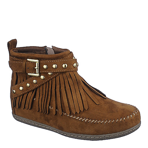 Shiekh Women's Fringe Ankle Boot Dahlia-S Tan Ankle Boots