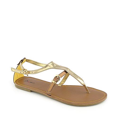 Promise Roana Gold T-Strap Sandals
