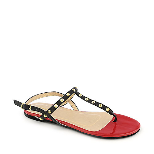 Promise Top Black T-Strap Sandals