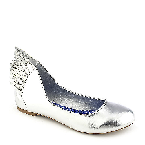 Misbehave Mazie-1 Silver Flat Shoes