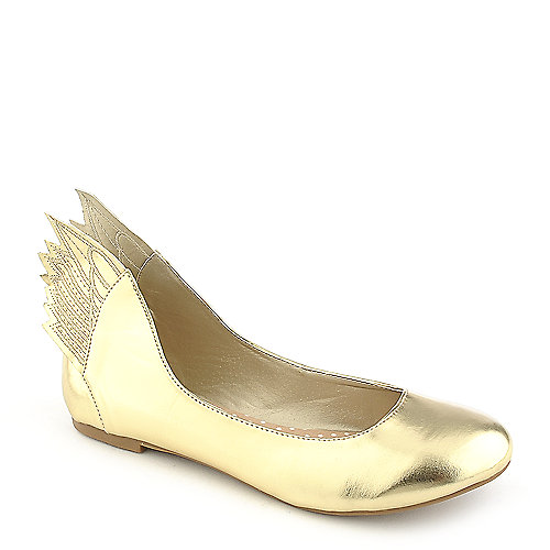 Misbehave Mazie-1 Gold Flat Shoes