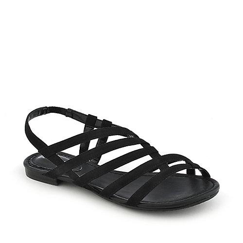 Breckelle's Ester-15 Slingback Sandals Black Slingback Sandals