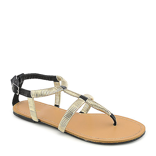 Promise Guide Black Gladiator Sandals
