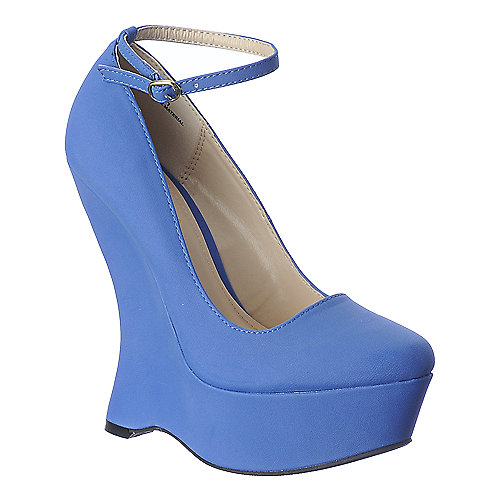 Bamboo Whistle-01 Blue Platform Shoes