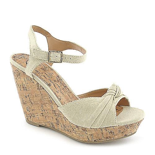 Delicious Susie-S Wedge Sandals Beige Platform Shoes