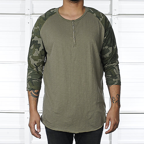Legacy Edition Mens Camo Raglan Baseball Shirt
