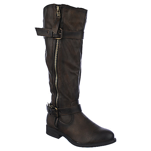 Shiekh Knee-High Leather Boots Pita 18 Brown Western/Riding Boots