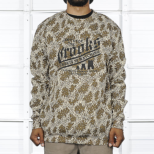 Crooks & Castles Mens Sweater Camo Up