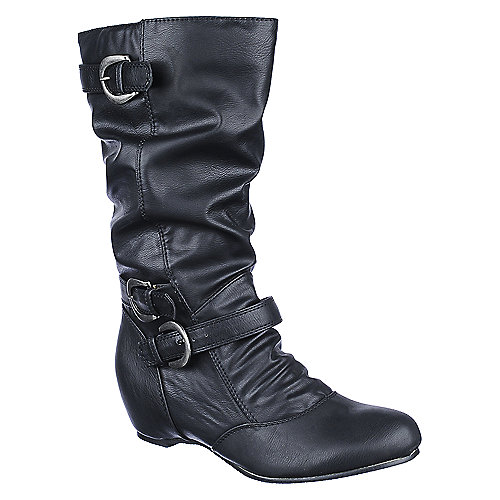 buy lounge candies 86 womens mid calf wedge boot