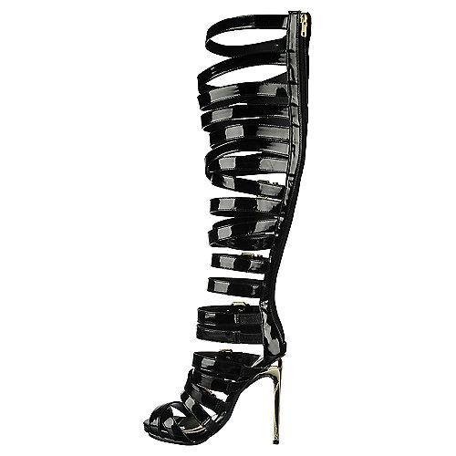 Privileged Miley Gladiator High Heel Black Gladiator Sandals