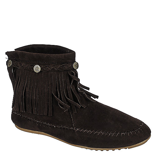 Nature Breeze Fringe Ankle Boots Cherokee-01 Brown