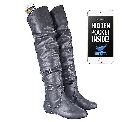 Shiekh VICKIE HI Grey Knee-High Boots