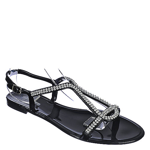 Soda Fizz-S Jeweled Sandals Black Jeweled Sandals