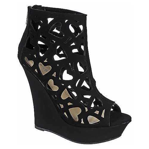 Bamboo Dreamer-39 Wedge Heel Black