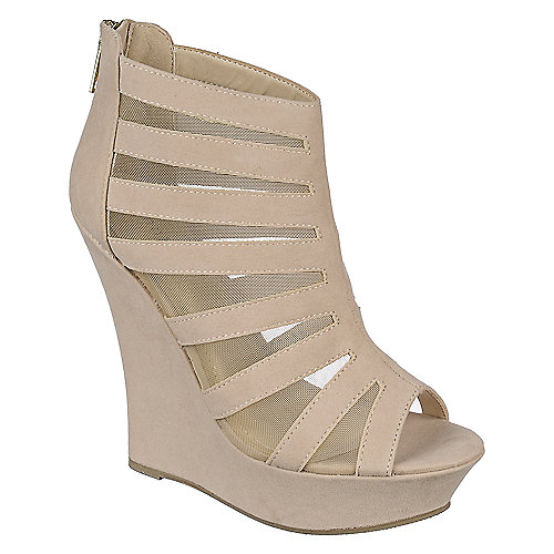 Bamboo High Heel Wedge Dress Shoe Dreamer-36 Beige